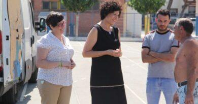 La pista polideportiva del CEIP Purísima Concepción renueva su acabado
