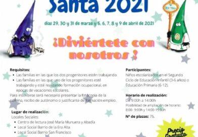 Se abre el plazo de presentación de solicitudes a partir del próximo lunes para la Escuela de Vacaciones de la Semana Santa de Totana