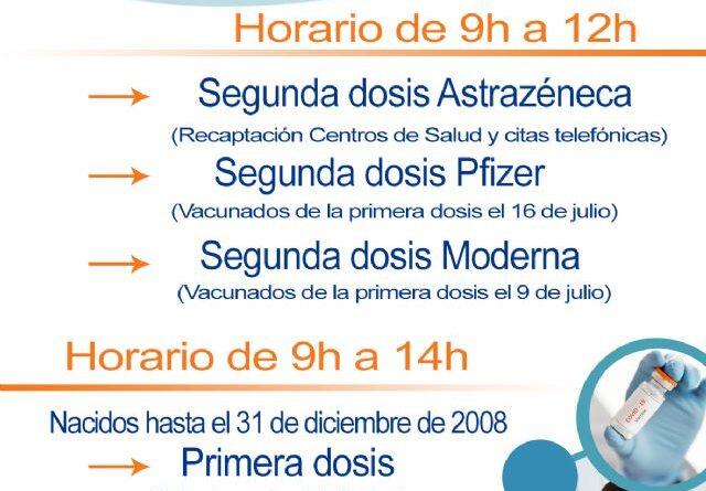 Este viernes se pondrá la primera dosis a mayores de 12 años en el CC Águilas Plaza