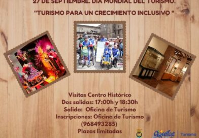 Águilas se suma al Día Mundial del Turismo con el lema «Turismo para un crecimiento inclusivo»